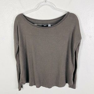 BDG Urban Outfitters Brown Taupe Long Sleeve Top